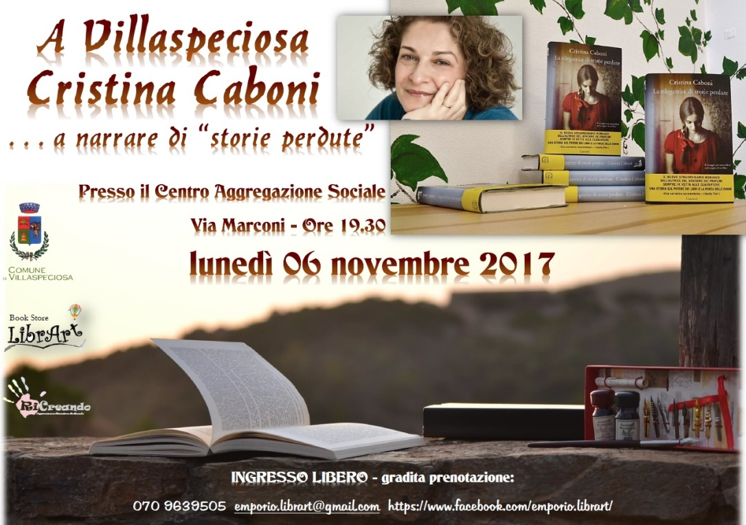 Cristina Caboni rilegatrice